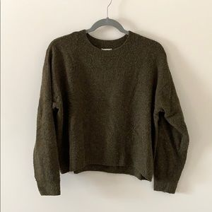 H&M green knit sweater
